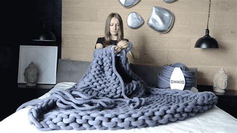 giant warm  cozy knit blankets   knitting needles