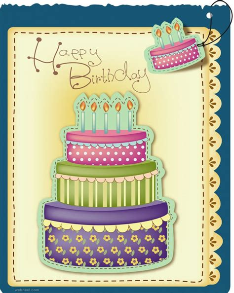 birthday card designs 50 beautiful happy birthday greetings card design exles