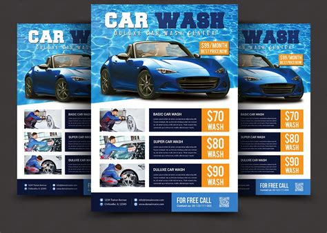 Download this premium psd file about car wash business flyer design template, and discover more than 14 million professional graphic resources on freepik. Car Wash Flyer ~ Flyer Templates ~ Creative Market