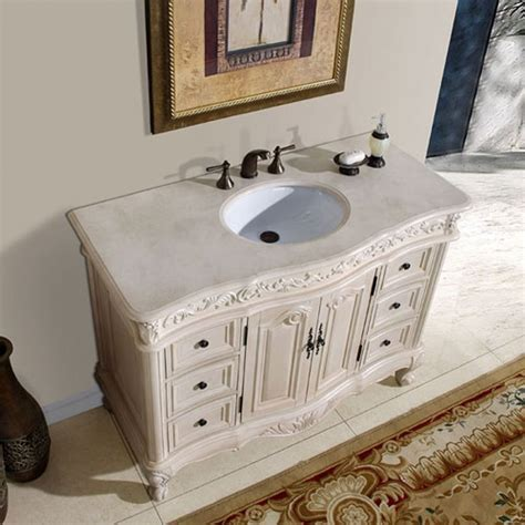 48 Inch Single Sink Vanity with Cream Marfil Counter Top