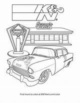 Coloring Chevy Dragster Printable Truck Dirt Diesel Pickup Bel Air Symbol Modified Drawing Getcolorings Getdrawings Colorings sketch template