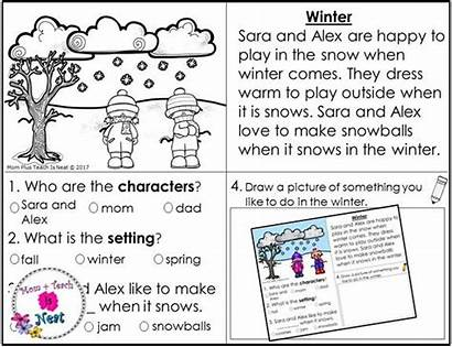 Story Worksheets Kindergarten Seasons Element Elements Worksheet