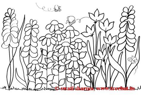 printable colouring sheets garden flower garden coloring