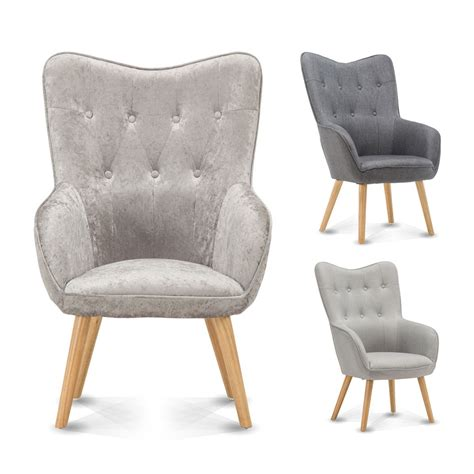 Bedroom Armchair by Wingback Occasional Accent Fabric Chair