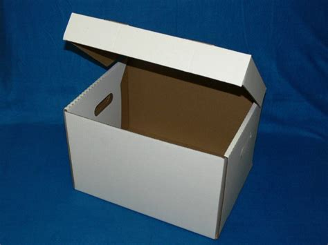 White File Box With Hinged Lid 15