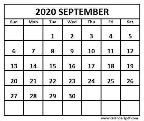 printable september calendar template calendar