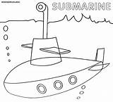 Submarine Coloring Pages Sketch Template Yellow Popular Navy sketch template