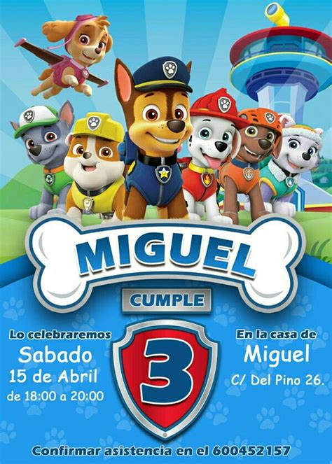 Invitacion de Cumpleaños Patrulla Canina en Illescas en