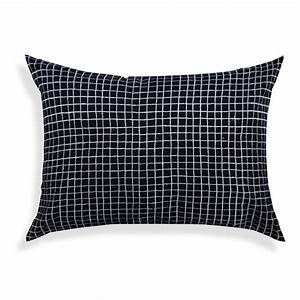 100  Cotton  Embroidered Check Pillow  Oblong 14 U201dx20