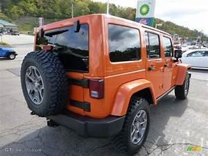 2013 Crush Orange Jeep Wrangler Unlimited Rubicon 4x4