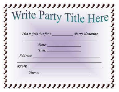 invitation templates word excel  templates
