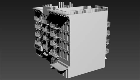 residential building  york  model cgtrader