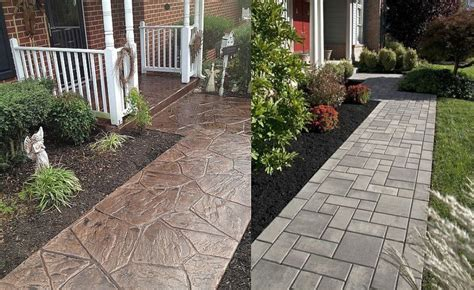 house walkway ideas sted concrete walkway ideas aesthetic addition to a property houz buzz