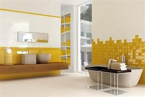 salle de bain jaune 10 modeles pour vous faire changer d With salle de bain jaune et bleu