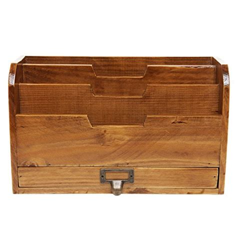 desk mail organizer 3 tier country rustic vintage wood office desk file