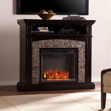 posts yvonne faux stone corner electric fireplace