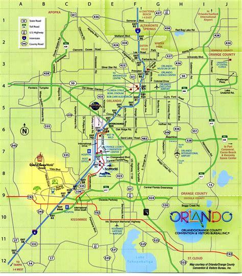 Orlando Florida Attractions Map