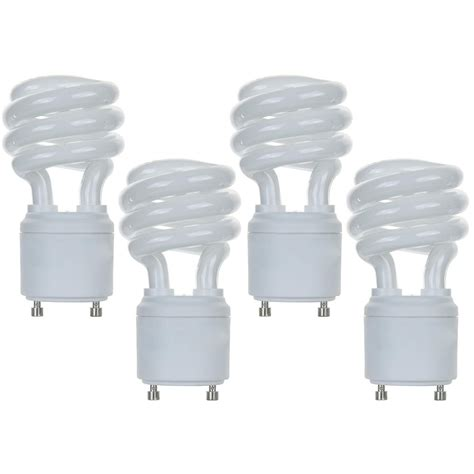 New Light Bulbs by New 13w Cfl Mini Spiral Gu24 Base 4100k Cool White 60w