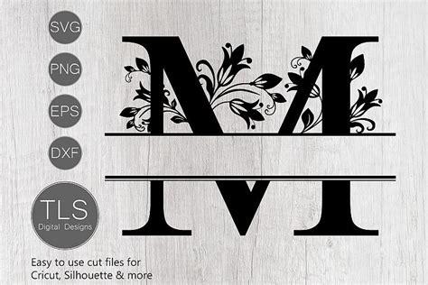 split monogram letter  svg letter  monogram svg tls digital designs crafters svgs