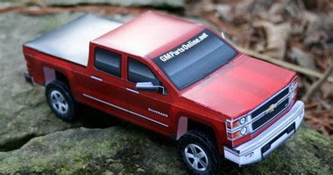 Build Your Own 2014 Gmc Silverado Paper Model