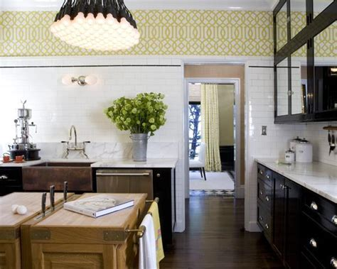 Black and Yellow Kitchen   Eclectic   kitchen   Tish Key