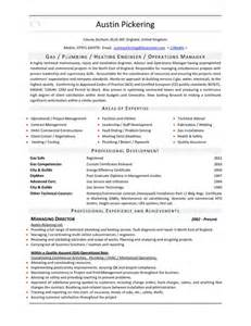 Electrical Resume Template Gas Heating Engineer Cv Pdfsr Com