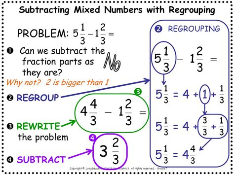 Math With Mrs D Add And Subtract Fractions With Regrouping