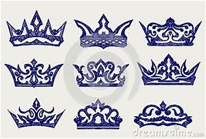 Crown Collection. Doodle Style Stock Images - Image: 29728454
