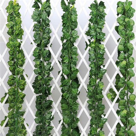 Beautify your yard while creating instant privacy in minutes, with our the amazing lifelike leaves are blooming from the basket or the wall. 2m Garden Artificial Grape Parthenocissus Leaves Vine ...