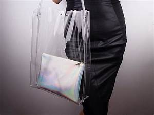 Clear Clutch Designer Clear Oversized Extra Large Huge Tote Pvc Vinyl Plastic