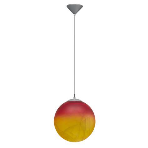 modern orange alabaster glass globe ceiling pendant