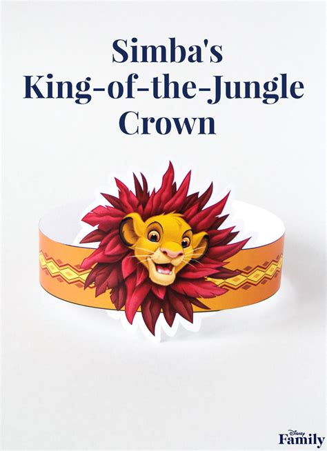 printable simba crown disney family