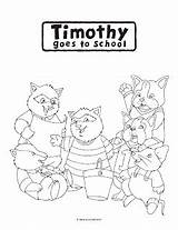 Timothy Goes Coloring Pages Sketch sketch template