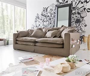 Sofa Hussen Günstig Kaufen : couch naima grau 240x142 cm hussensofa mit kissen und seitentaschen ebay ~ Bigdaddyawards.com Haus und Dekorationen