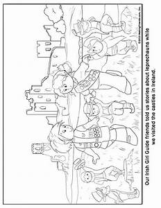Irish Girl Guide Coloring Page