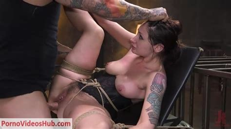 BrutalSessions Presents Petite Pain Slut Violet Monroe In Rope Bondage And Brutal Anal Fucking