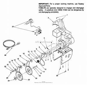 Mtd 31ae6c0f022  1999  Parts Diagram For Engine And V
