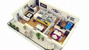 50 plans 3d d39appartement avec 2 chambres architecture With plan d appartement 3d 0 eyredeco decoration dinterieur