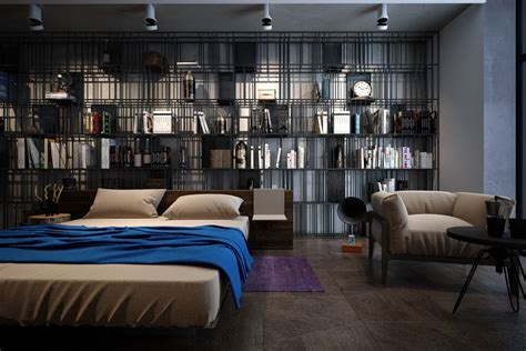 Customized Bookshelf by Accentuate The Positive In Two Artful Apartments