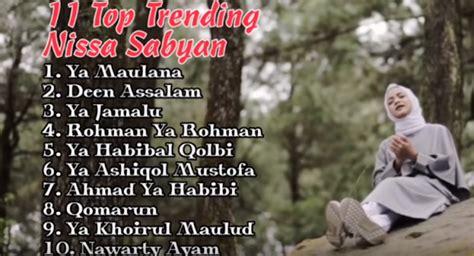 Full Album Nissa Sabyan Terbaru Album Ya Maulana Mp3