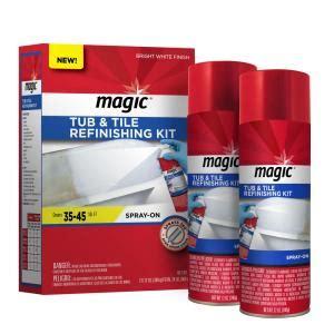bathtub resurfacing kit magic 17 oz bath tub and tile refinishing kit in white