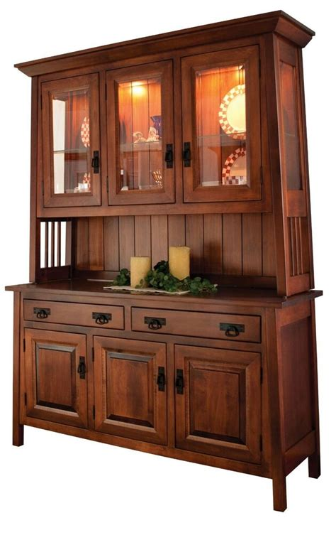 Solid Wood Hutch - amish dining room mission hutch buffet server china