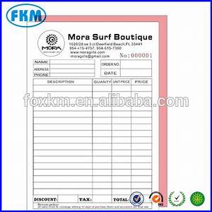 custom print 50pcs two copy invoice book carbonless paper With custom carbon paper invoices