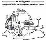 Adot Snowplows Snowplow Coloring Activity Know sketch template