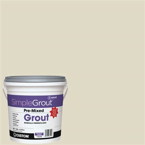 alabaster grout custom building products simplegrout 333 alabaster 1 gal pre mixed grout pmg3331 the home depot