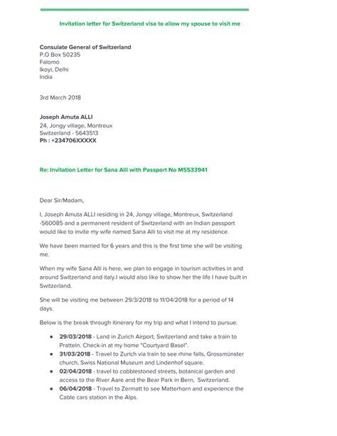 sample invitation letter  german family reunion visa
