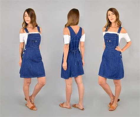 denim jumper 70 39 s denim suspender dress suspender dress suspenders