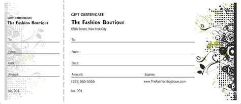 Show Certificate Template by Fashion Show Gift Certificate