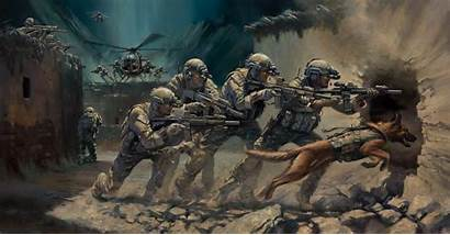 Dog Special Forces Industrial Operation Helicopters Assault