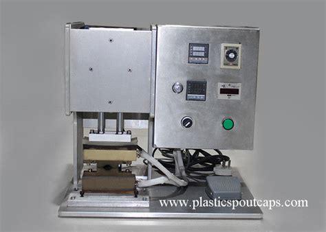 semi automatic plastic spout stand  pouch sealing machine  seal press nozzle